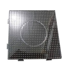 Hot 14.5X14.5cm Bead Pegboard Square Shape Puzzle Template for 5 mm Perler Beads Creative Educational Toys(China (Mainland))