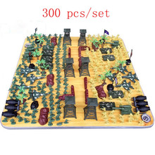 300pcs/set Military Equipment Plastic Toy Soldiers Aircraft Tanks Model Soldier Set Kids Action & Toy Figures Stormtrooper FD076(China (Mainland))