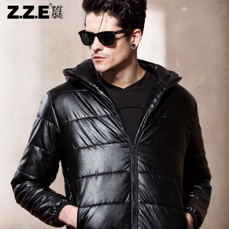Zze male wadded jacket winter outerwear male cotton-padded jacket thickening winter men's cotton-padded jacket 2014