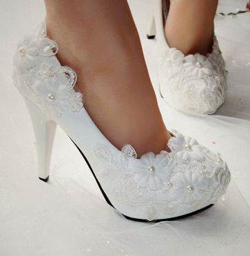Extra high 11cm heels woman wedding shoes white, platforms red soles sexy round toe lace flower bridal dance pumps PR403 sales(China (Mainland))