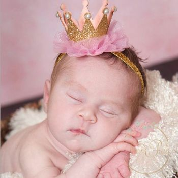 Newborn Crown HeadBand Baby Girls Cute Hair Band Infant Kids Hair Accessories Children Photo Props 1set HB044