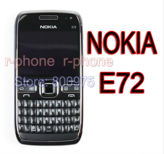 100% Original Nokia E72 Mobile Phone 3G Wifi 5MP Unlocked Refurbished Cellphone English Russian Arabic keyboard(China (Mainland))