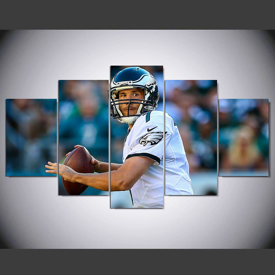 DAFENJINGMO ARTS 5 panel Modern hd Sam Bradford print canvas art wall framed paintings for living room wall picture(China (Mainland))