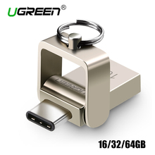 Ugreen USB Flash Drive 32GB OTG Metal USB 3.0 Pen Drive Key 64GB Type C High Speed pendrive Mini Flash Drive Memory Stick 16GB(China (Mainland))