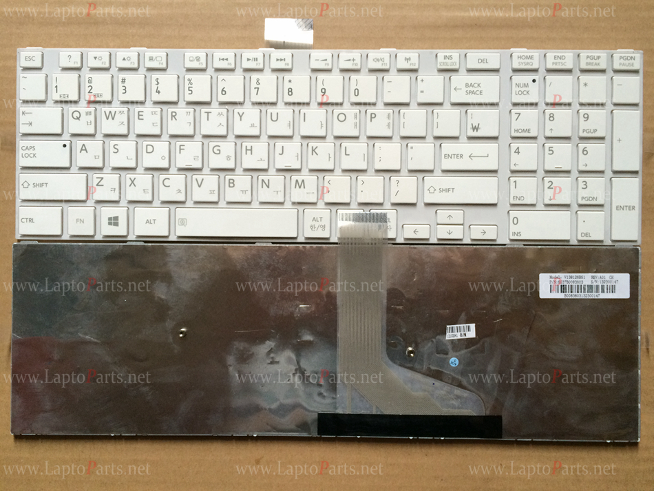 NEW KR Korea keyboard for Toshiba Satellite L50 L50-A S50 White Laotop keyboard(China (Mainland))