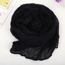 Echarpe 180*50cm Cachecol Feminino 2015 Brand Fashion Casual Foulard All-match Solid Soft Cotton Long Scarf Women Scarves 1901(China (Mainland))