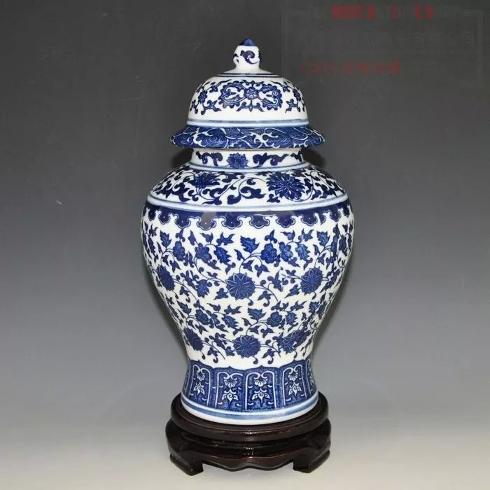 2018 Wholesale Chinese Antique Qing Qianlong Mark Blue And White