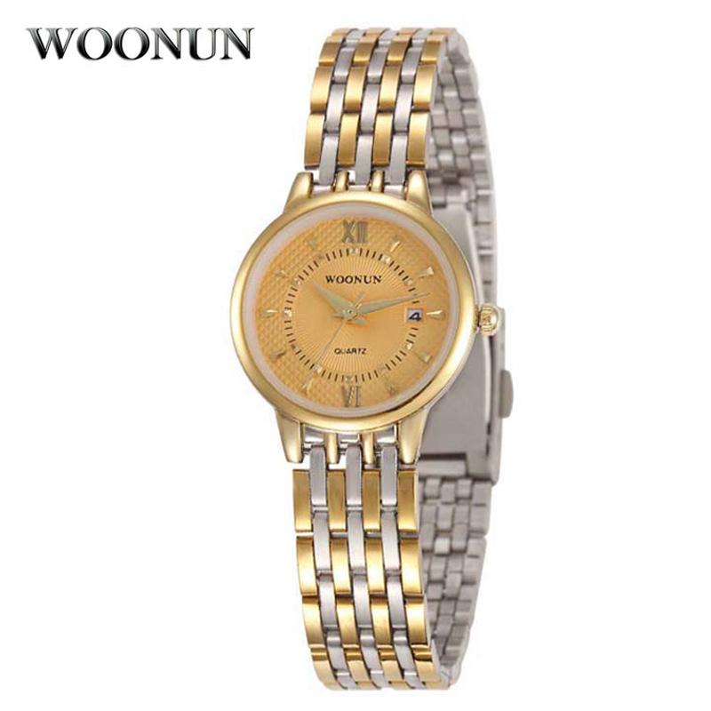 WOONUN Famous Brand Watches Women Full Steel Quartz-watch Luxury Gold Ultra Thin Watches For Women Roma Number Relogio Feminino(China (Mainland))
