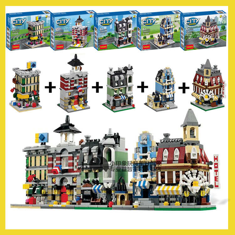 building block set compatible with lego city MINI Modular Building 3D Construction Brick Educational Hobbies Toys for Kids<br><br>Aliexpress