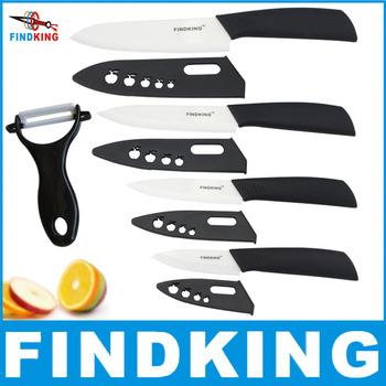 """Findking бренд Высокое качество мать день подарок комплект циркония керамических ножей 3 """" 4 """" 5 """" 6 """" дюймовый + нож + обложки фрукты нож комплект"""