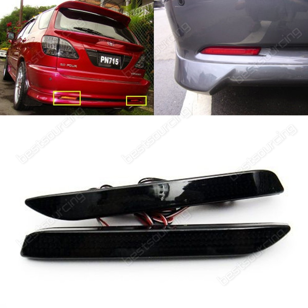 Black Cover Rear Bumper Reflector Tail Stop Light Toyota Avalon Lexus GX470 IS F (Fits: Toyota)