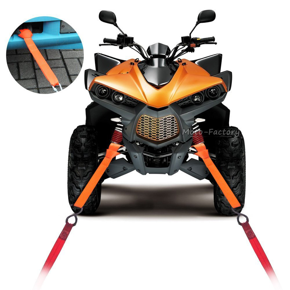 4 Pcs Soft Loops Motorcycle Tie Down Straps Towing Ropes Prevent Scratches Motocross Motorbike ATV Dirt Bike 12'' 30cm Orange(China (Mainland))