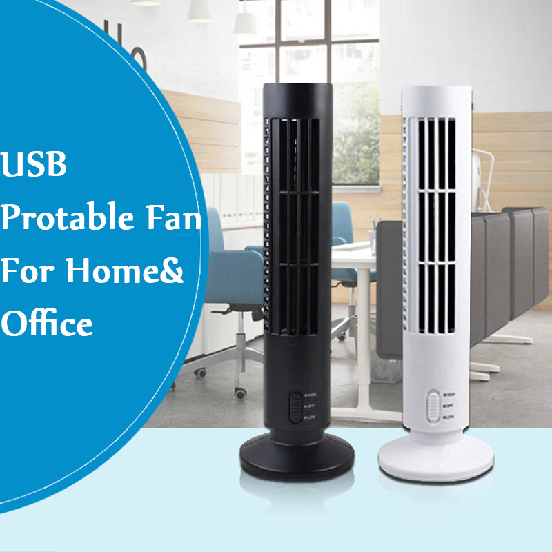Tuansing Home Office USB Mini Fan No Blades DC 5V Bladeless Ventilateur Desk Cooling Tower Fan No leaf Fans Air Conditioner(China (Mainland))