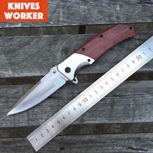 Nueva calidad superior Browning FA19 plegable que acampa cuchillo táctico de los cuchillos mango de madera caza exterior 5Cr15Mov regalo OEM