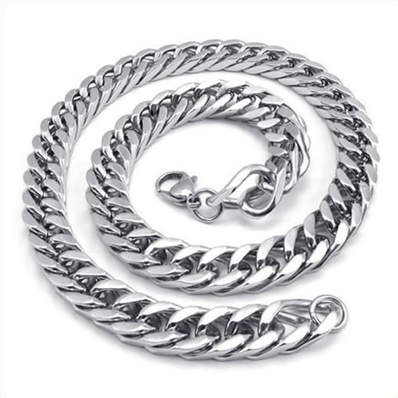 "New Heavy Large Fashion Gentlemen's Link Chain Necklace Made Of Stainless Steel Size 599 mm(22"") Long 12 mm(0.47"") Wide(China (Mainland))"