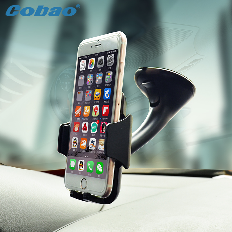 360 Rotating Universal Car Phone Holder Windshield Bracket For iPhone 6 6S Plus Samsung S7 S6 S5 XiaoMi RedMi Note 3 2 HTC Sony(China (Mainland))