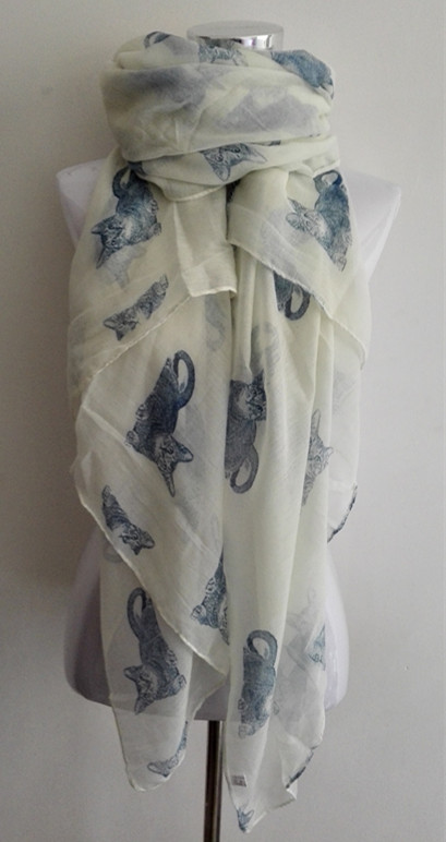 Free shipping New Design ladies fashion animal Cats print scarf Voile Scarf big size(China (Mainland))