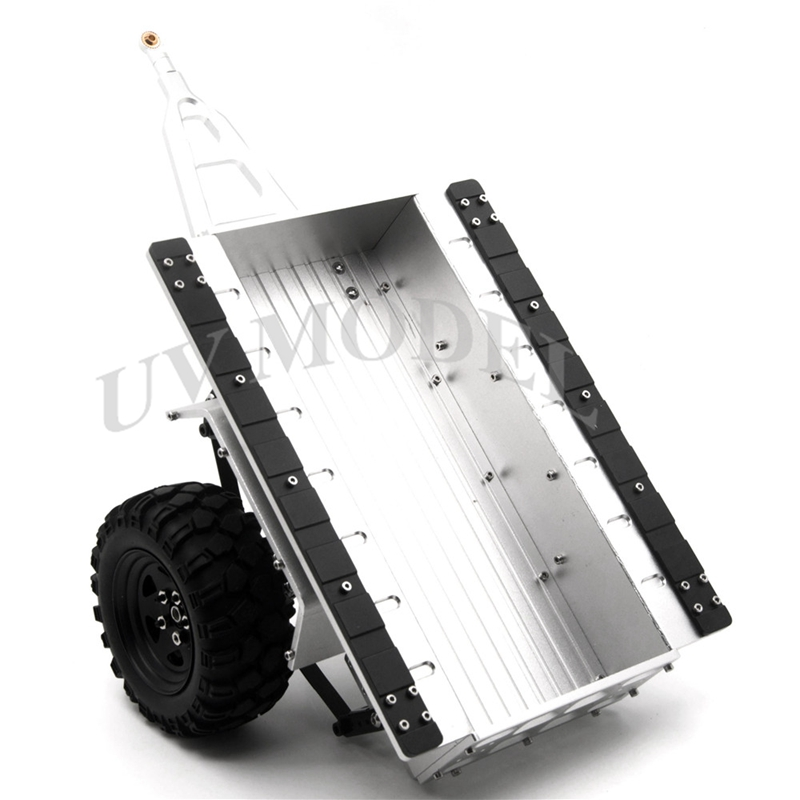 High Quality 1:10 Scale Aluminum Trailer For SCX10 CC01 F350 HILUX 90034 RC4WD D90 RC Crawler(China (Mainland))