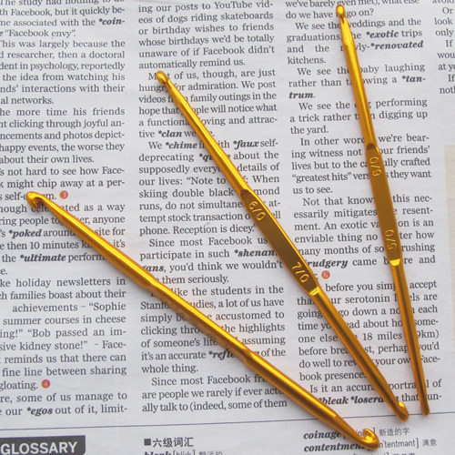 Jonadab diy tool gold alumina hook needle yarn needle crocheted(China (Mainland))