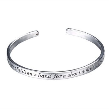 2017 New Mother's Gifts Stamped Letters Bangle for Women Unique Personalized Vintage Engraved LOVE Cuff Bracelets for Family