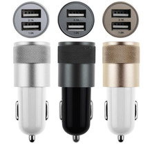 Hot Micro Auto Universal Dual 2 Port USB Car Charger For Smart Phone Mini Car Charger Adapter For Tablet PC Drop Shipping