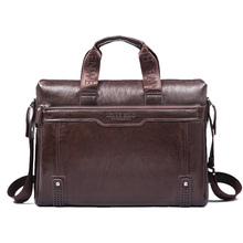 New 2016 men leather briefcase computer Laptop Bag brands Business handbag Men s Travel Bags Retro
