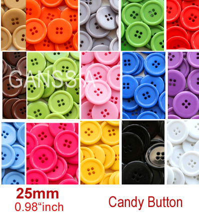 4 holes flatback sewing button 25mm Bulk buttons for craft Scrapbooking accessories(SS-597-381)(China (Mainland))