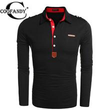 Coofandy Мужчины Футболка-Поло новый человек осень 2016 мужская с длинным Рукавом Рубашки slim fit, рубашки мужчин, хлопок, 4 цветов, 6 США размеры,(China (Mainland))