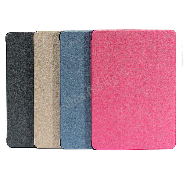 PU Leather Solid Multi 9.7 Triple Foldable Flip Magnetic Smart Cover Case Stand Disgin Skin Sleeve Soft For iPad 2(China (Mainland))