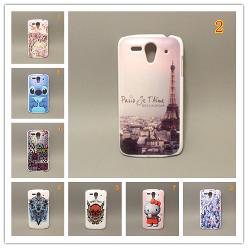 fashion design Rubber Flower Painting Hard Plastic cell Phone Case Huawei Ascend G300 U8818 U8815 - case store
