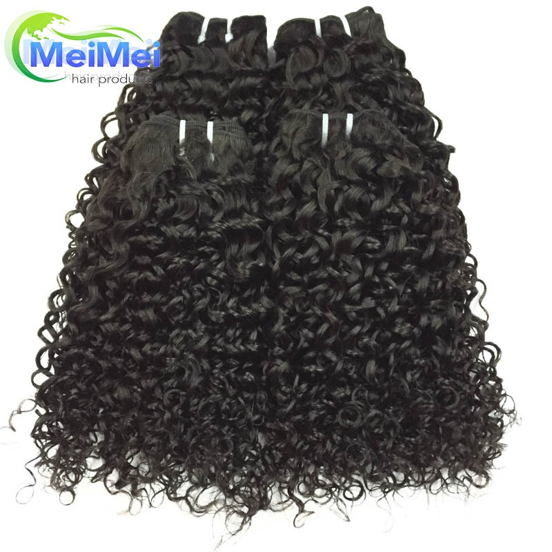 7A Brazilian Hair Weave Bundles 3 Pieces/lot 1B Brazilian Curly Hair Weave No Tangle Kinky Curly Virgin Hair Tissage Bresilienne