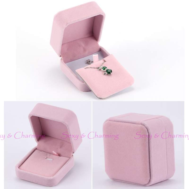 Wedding No Gift Box : Fashion Lovely Pink Luxury Flannelette Wedding Gift Box for Jewelry ...