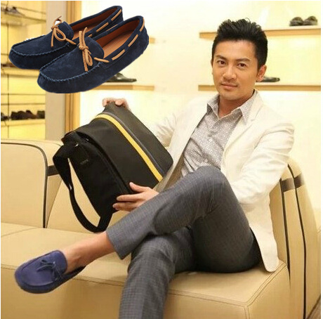 best selling 2014 bean new men's loafer shoes fashion casual breathable leather flat-bottom lazy driving - THE RIVA store