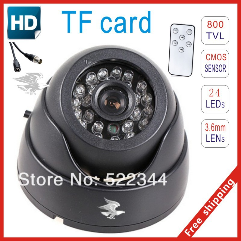 sale security Recorder Night Vision ir Dome Camera Motion Detection CCTV DVR Recorder Security tv out bnc Camera 16GB TF Card(China (Mainland))