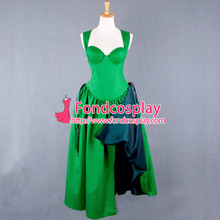 Free Shipping O Dress The Story Of O With Bra Green Cotton Dress Cosplay Costume Tailor-made(China (Mainland))