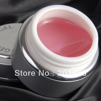 Free Shipping - 1pcs Pink color led Gel UV Gel 26ml For Nail Art LED Builder Gel pink NA614B