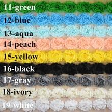 26 color, by the yard chiffon shabby fabric flower trim for sewing,diy hair wear accessory,apparel, curtains embellisment etc.(China (Mainland))