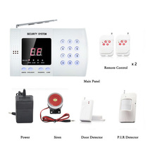 Buy Wireless Home Alarm System PSTN 99 Defense Zones Security Alarm System Intelligent Voice Alarm System Remote Burglar Alarm for $39.53 in AliExpress store