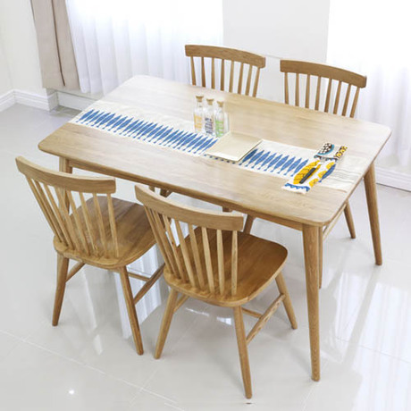 Dodge Scandinavian modern style furniture oak wood dining