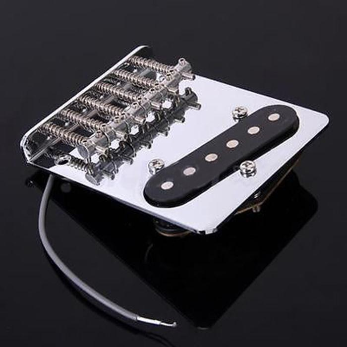 Hot New High Quality Chrome 6 Saddle String Bridge Pickup for Fender Telecaster Electric Tele Guitar pickup 10.5mm(China (Mainland))
