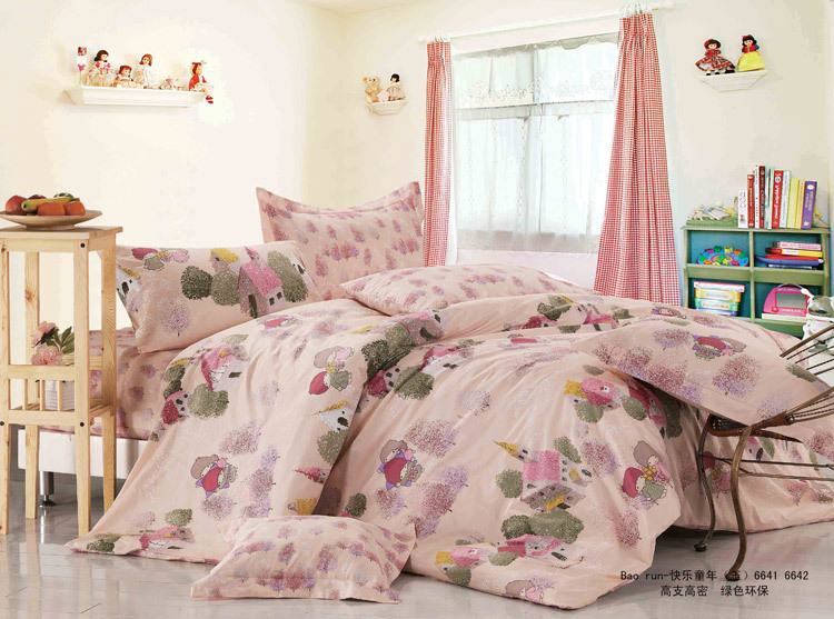 100 Cotton 4pc bed set full 200 230cm queen size cheap