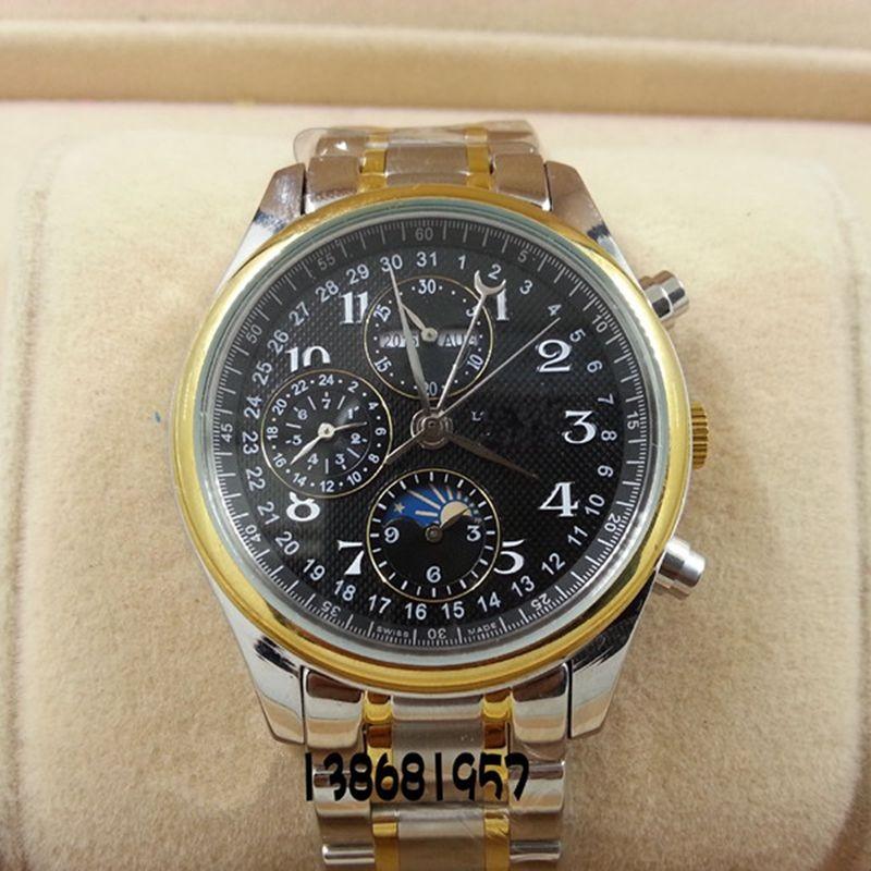2016 Мода Luxury Brand Мужчины Wacth Tourbillon Hollow Календарь Автоматические Механические Часы Мужские Часы С Оригинальной Коробке Подарка