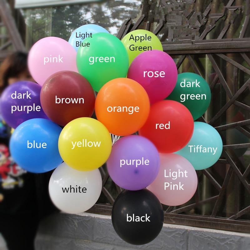 Black Balloons latex 10pcs 10 inch Wedding Decorations Ballons Decorations Happy Birthday Party Air Balls Helium Inflatable 2.2g(China (Mainland))