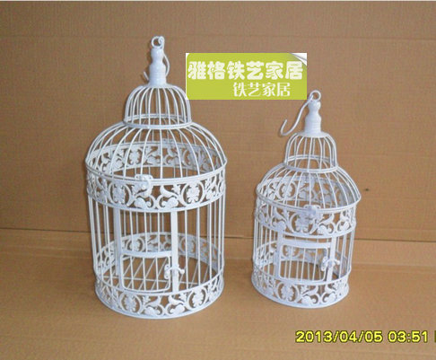 free shipping fashion iron birdcage small large bird cage decoration hanging incarriers from. Black Bedroom Furniture Sets. Home Design Ideas