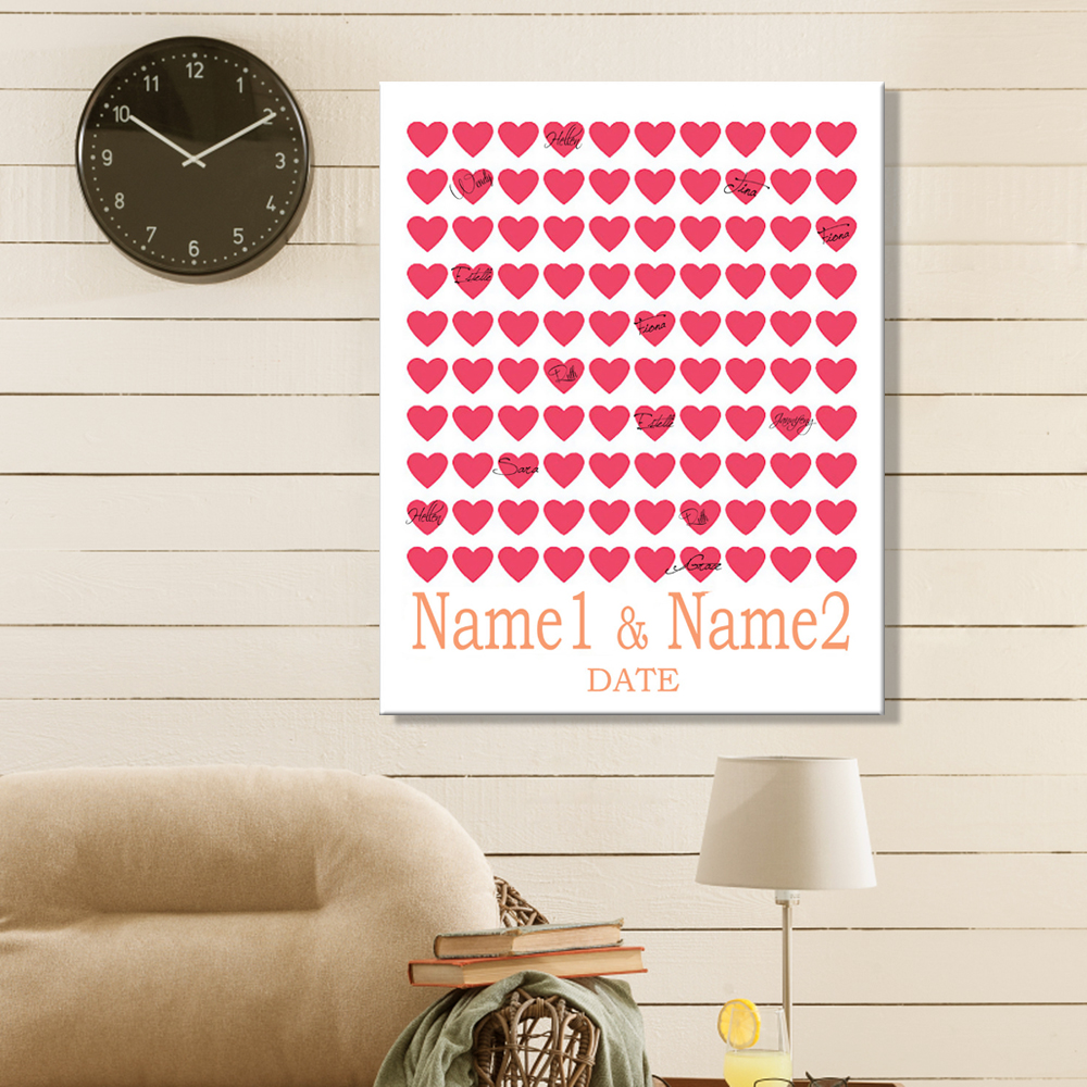 Guest Signing Signature Love of Rose Signing Board Canvas Wedding Gift Wedding Decoration Wall Art For Living Room Free Shipping(China (Mainland))