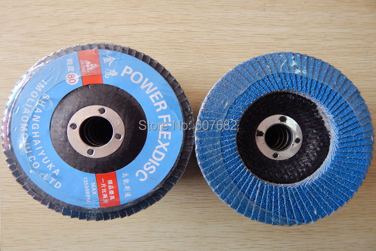 flip disk with 100mm 16mm hole and 60grit for surface polishing steel wood polishing