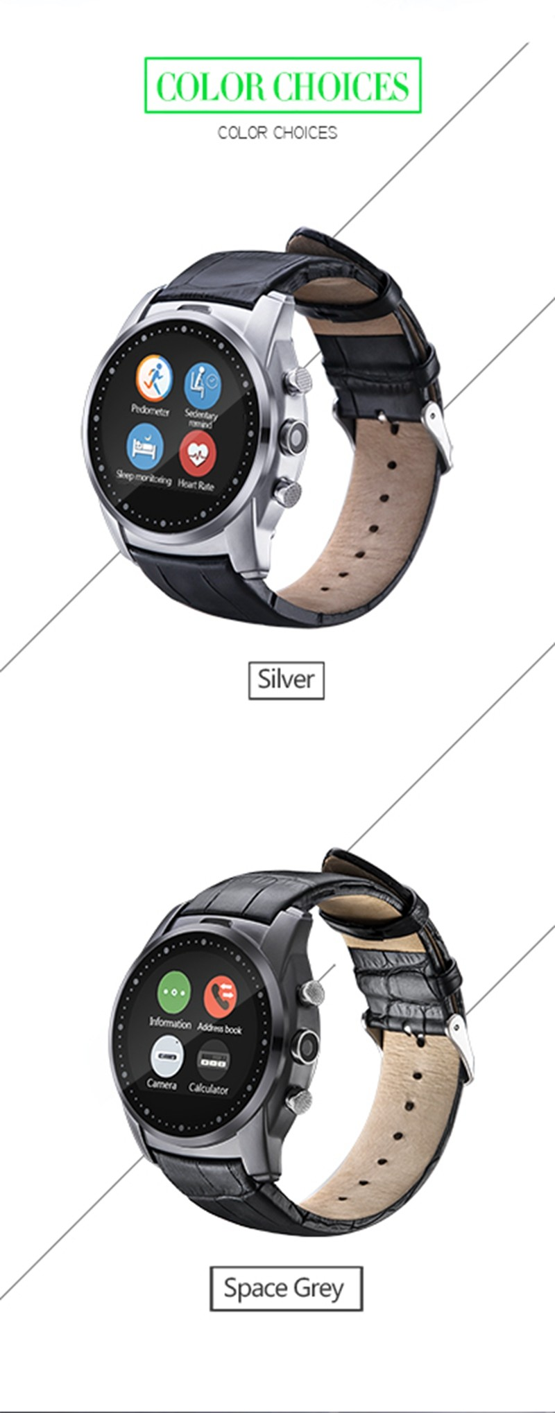 AS Seen On TV A8 Power Gear S Bluetooth Smart Watch WristWatch Sim Insert Antilost Call Heart Rate Tracke For Android Smartphone
