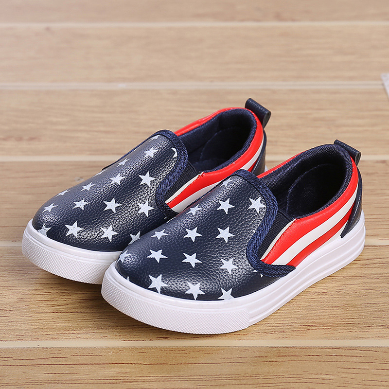 2016 The New A pedal Children canvas shoes Boys and girls shoes Casual lazy shoes