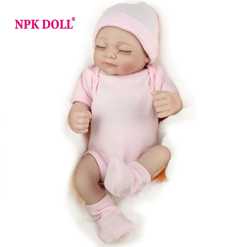 NPKDOLL Doll Reborn 10 inch Full Vinyl Girl Babies Toys Lifelike Newborn Pink Romper(China (Mainland))
