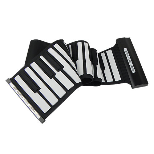 New Arrival 88 Keys Electronic Piano USB Rubberized Flexible Roll up Roll-up Electronic Organ Keyboard D2234A eshow(China (Mainland))
